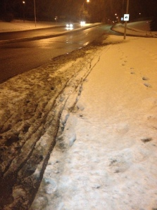 Calgary Slush Snow Ice While Running