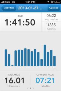run keeper 16km run in calgary