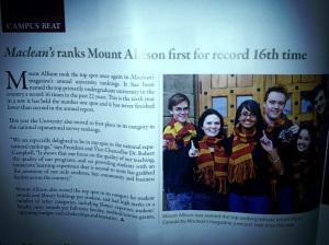 we're #1 mount allison