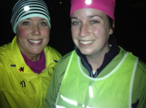 kat and sue on wedgie night run