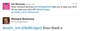 richard simmons tweeted me!
