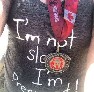Pregnant Spartan Runner Finisher Alberta