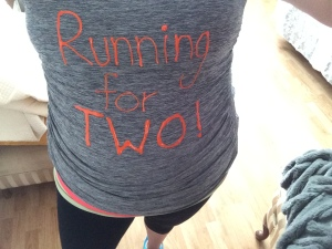 running-for-two-selfie-calgary-pregnant-runner