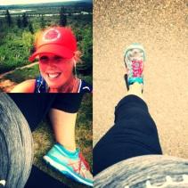 pregnant runner calgary - reservoir running- alberta