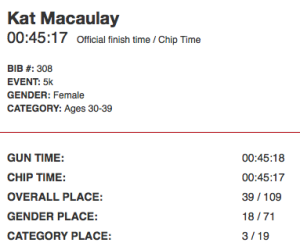 Kat Macaulay Running while Pregnant Race Results heroes behind heroes